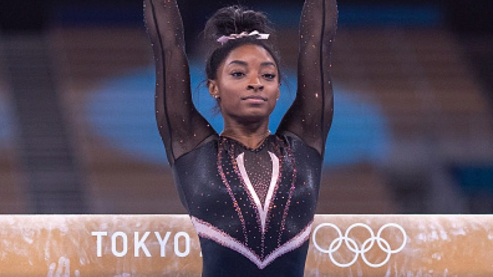 Gymnast Simone Biles bagged a bronze medal in the balance beam final