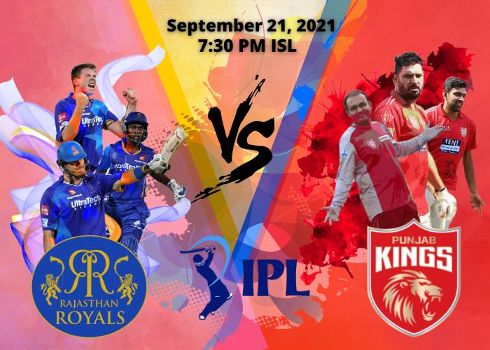 IPL 2021: Punjab Kings vs Rajasthan Royals