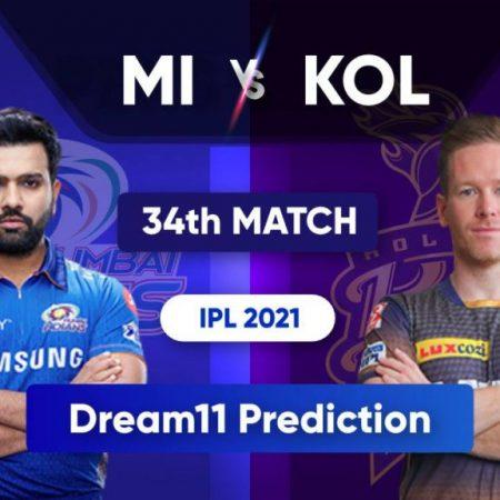 MI vs KOL Dream11 Team Predictions: IPL 2021