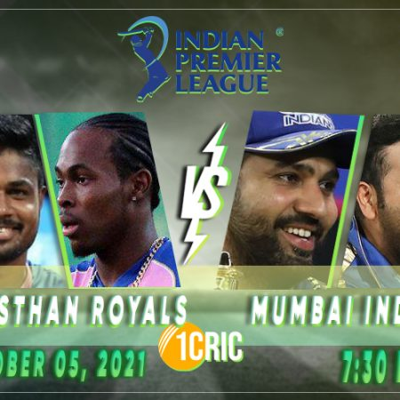 RR vs MI Match 51: IPL 2021 Prediction