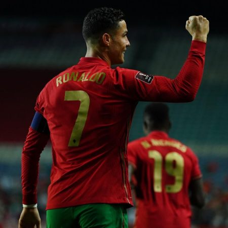 Cristiano Ronaldo scores his tenth goal of the season. In World Cup qualifying, Portugal scored a hat-trick in a huge win over Luxembourg.