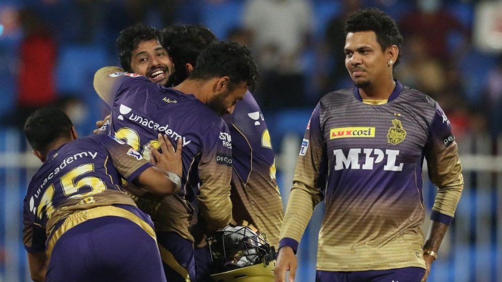 Rahul Tripathi dramatic six takes nervy Knight Riders into final