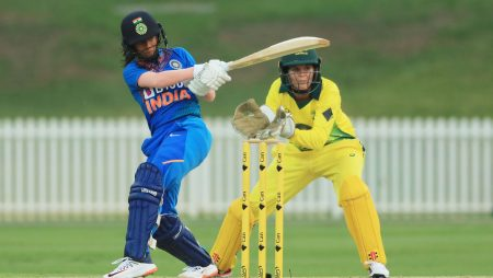 Rain forced the cancellation of India's first women's T20I against Australia, leaving Jemimah Rodrigues stuck on 49.