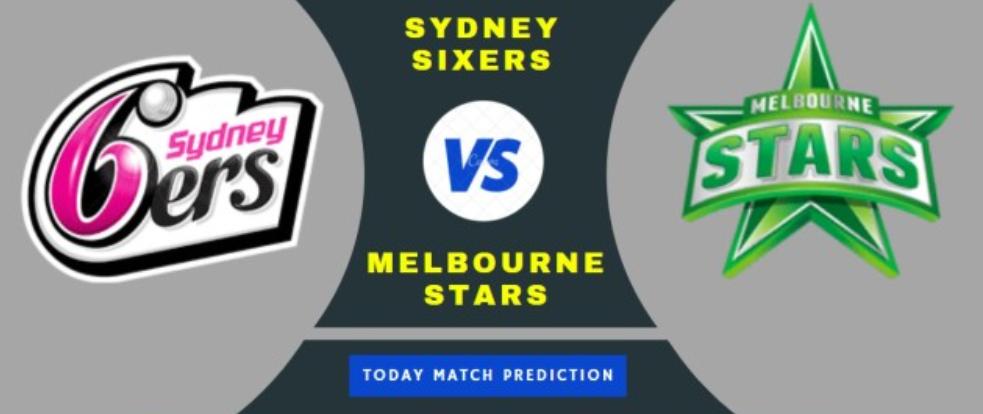 SYDNEY SIXERS WOMEN vs MELBOURNE STARS WOMEN 1ST Match Prediction