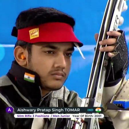 ISSF Junior World Championship: Aishwary sets a new world record.